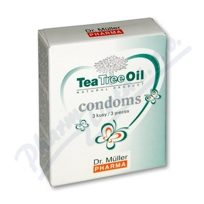 DR.MULLER Tea Tree Oil kondomy, 3 ks