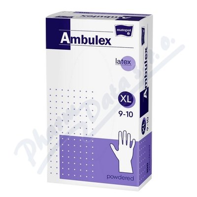 Ambulex rukavice latex.jemně pudr.XL 100