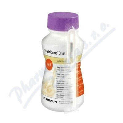 Nutricomp Drink Plus Jahoda po.s.4x200ml