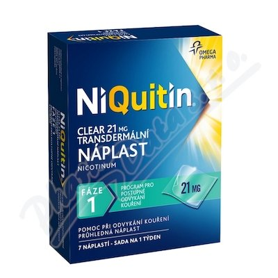 Niquitin Clear 21mg tdr.emp. 7ks