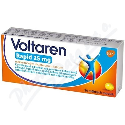 Voltaren rapid 25mg 20tbl